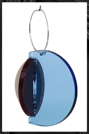 Dexel Blue Mirrored Earrings| Free Delivery - Quick Shipping