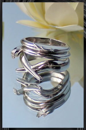 Rhodium Meditation Ring | Free Delivery - Quick Shipping