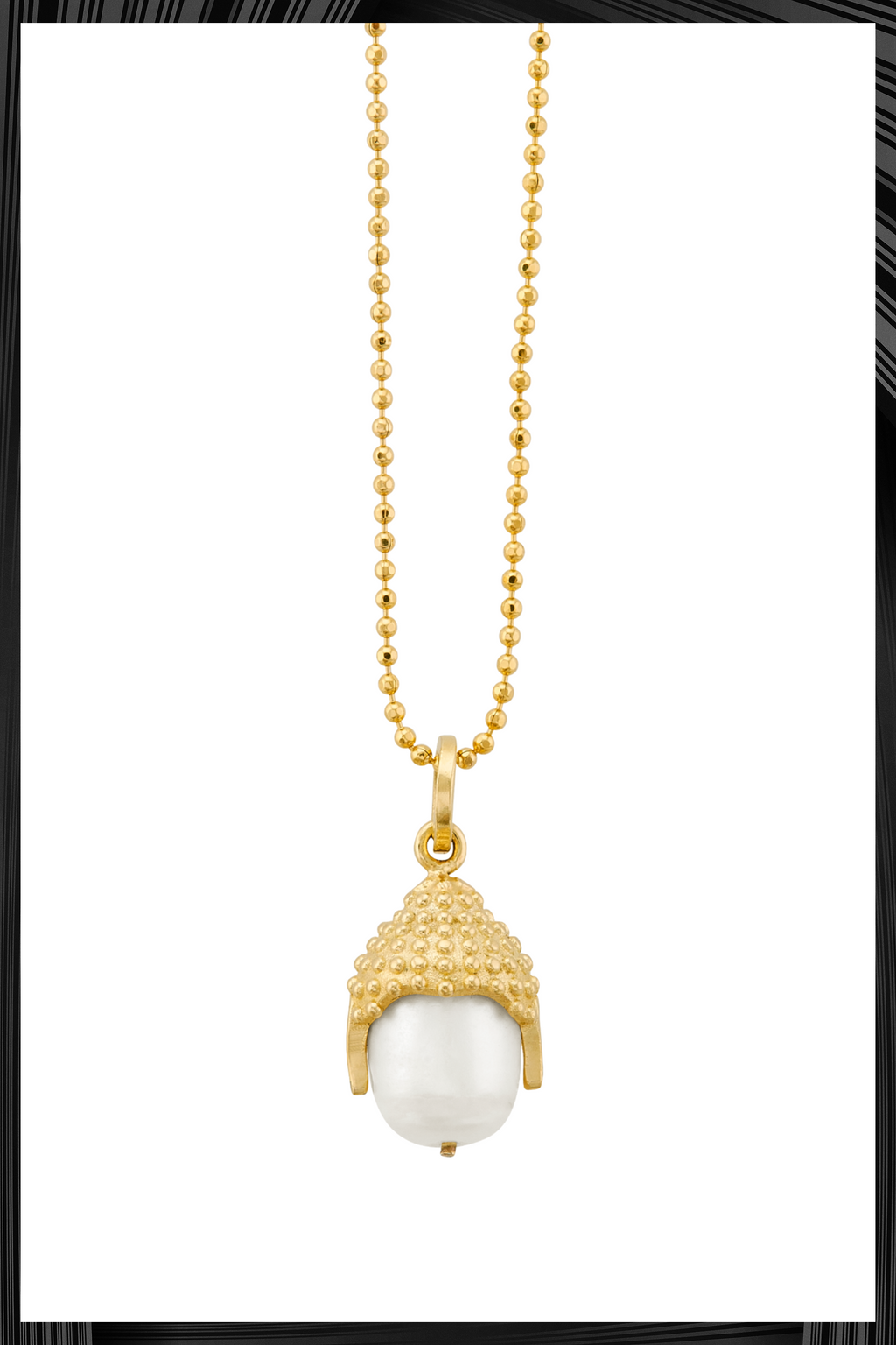 White Pearl Buddha Mind Necklace | Free Delivery - Quick Shipping