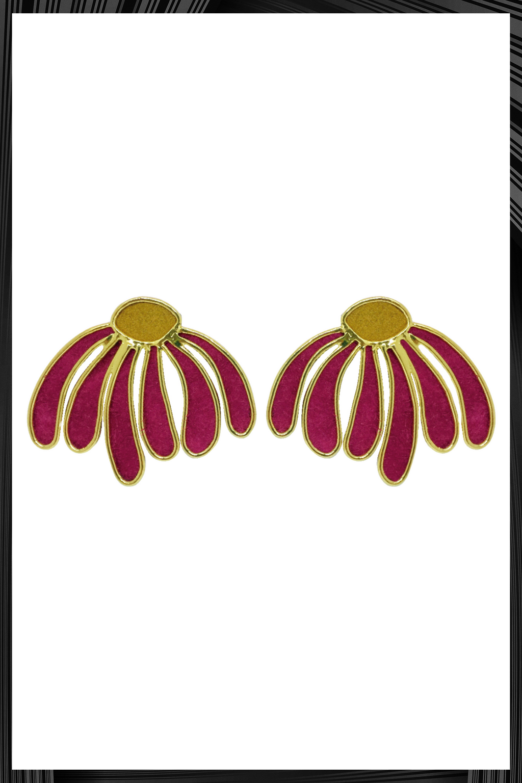 Magenta Margarita Earrings  | Free Delivery - 3 Week Shipping