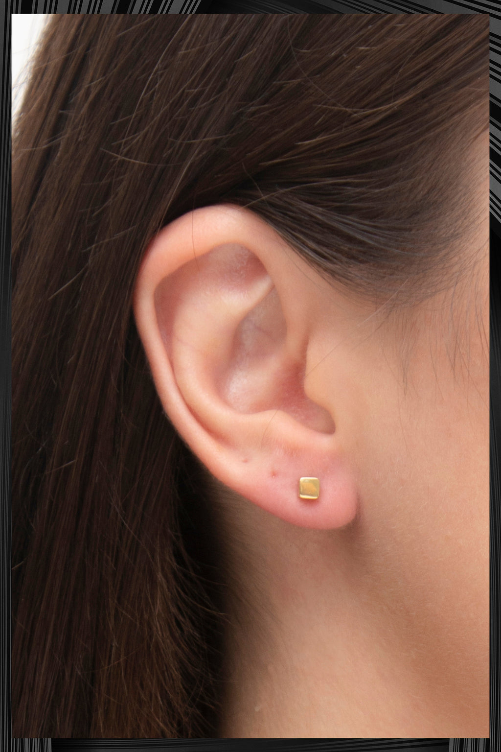 Gold Cube Earrings | Free Delivery - Quick Shipping
