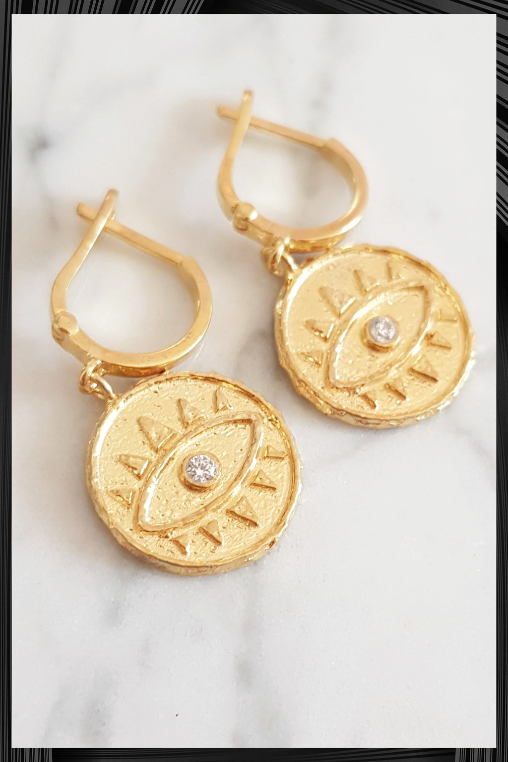 Evil Eye Hoop Earrings | Free Delivery - Quick Shipping