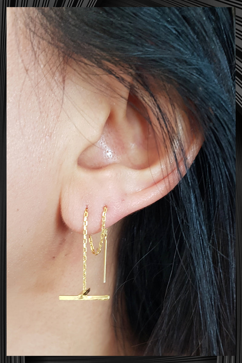Gold X-Chain Earring | Quick Delivery