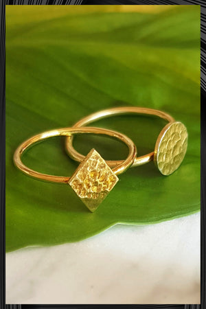 Gold Diamond Ring | Free Delivery - Quick Shipping