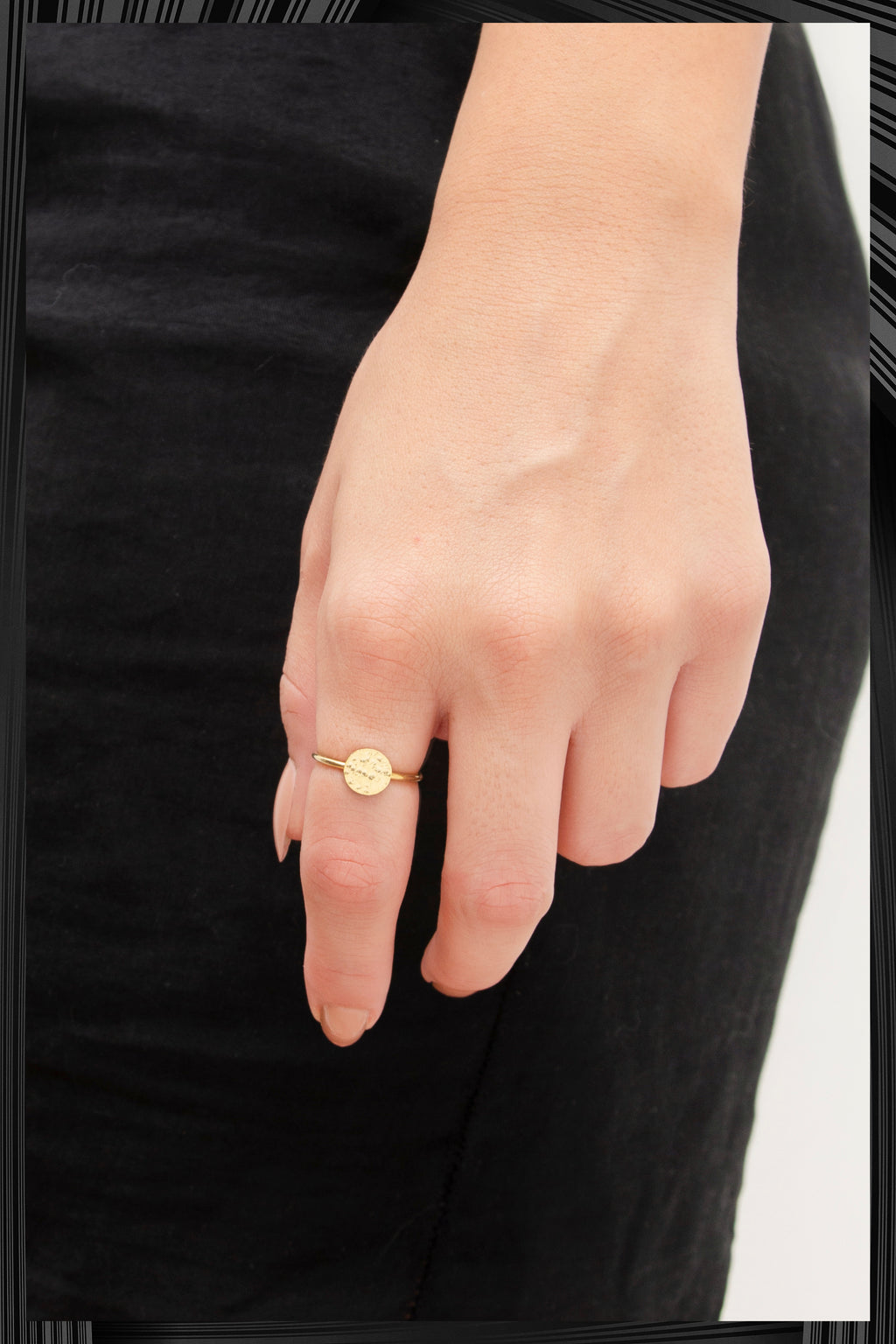 Gold Diamond O Ring | Free Shipping - Quick Delivery