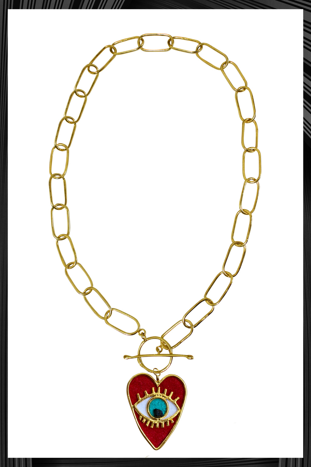 Heart Eye XL Link Chain Necklace | Free Delivery - 3 Week Shipping