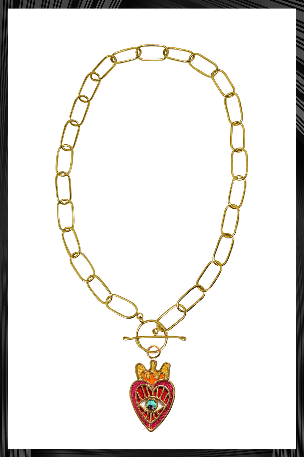 Milagros Del Corazon XL Chain Link Necklace | Free Delivery - 3 Weeks Shipping