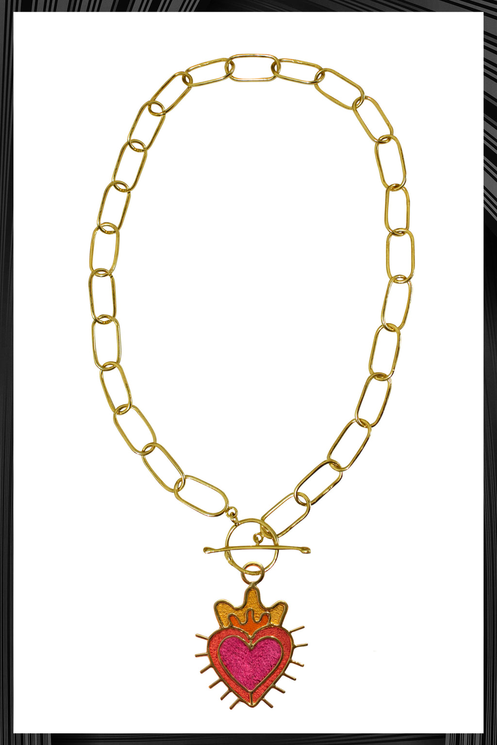 Sagrado Corazon XL Chain Link Necklace | Free Delivery - 3 Week Shipping