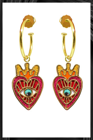Milagritos Del Corazon Mini Hoops | Free Shipping - 3 Week Delivery