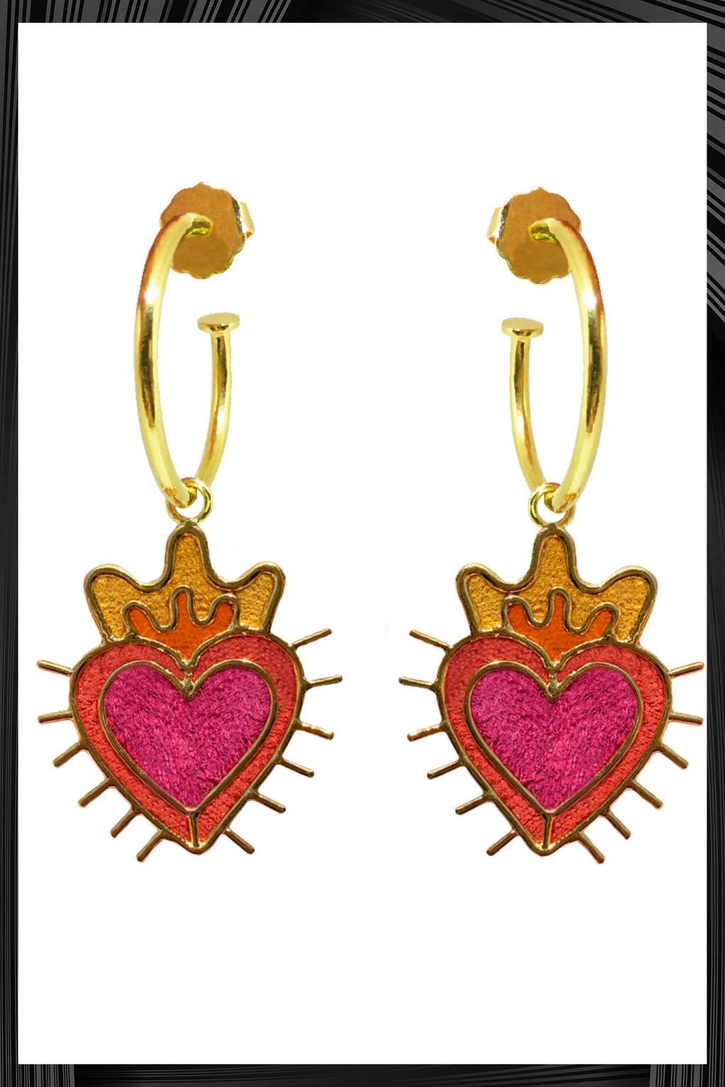 Sagrado Corazon Mini Hoops | Free Delivery - 3 Week Shipping