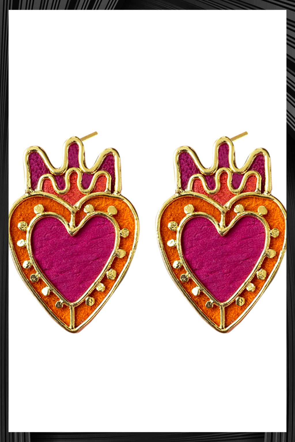 Corazon Y Punto Studs | Free Delivery - 3 Week Shipping