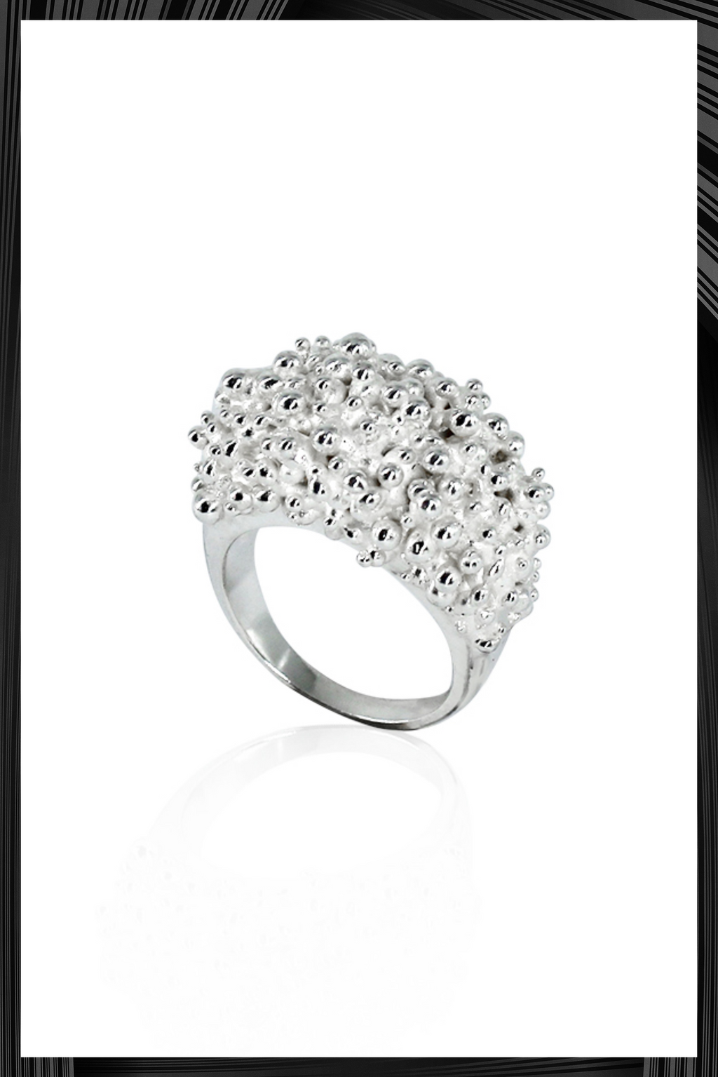 Silver Cluster Ring | Free Delivery - 4-5 Week Shipping