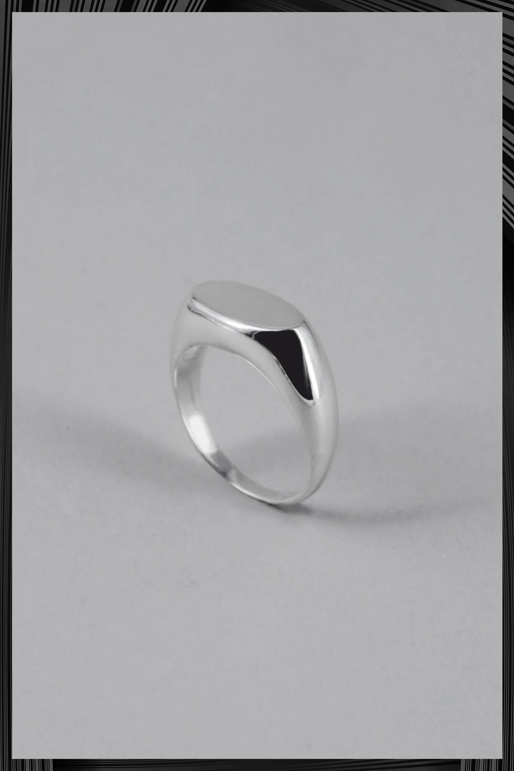 Silver Oval Signet Ring | Free Delivery - 4-5 Week Shipping