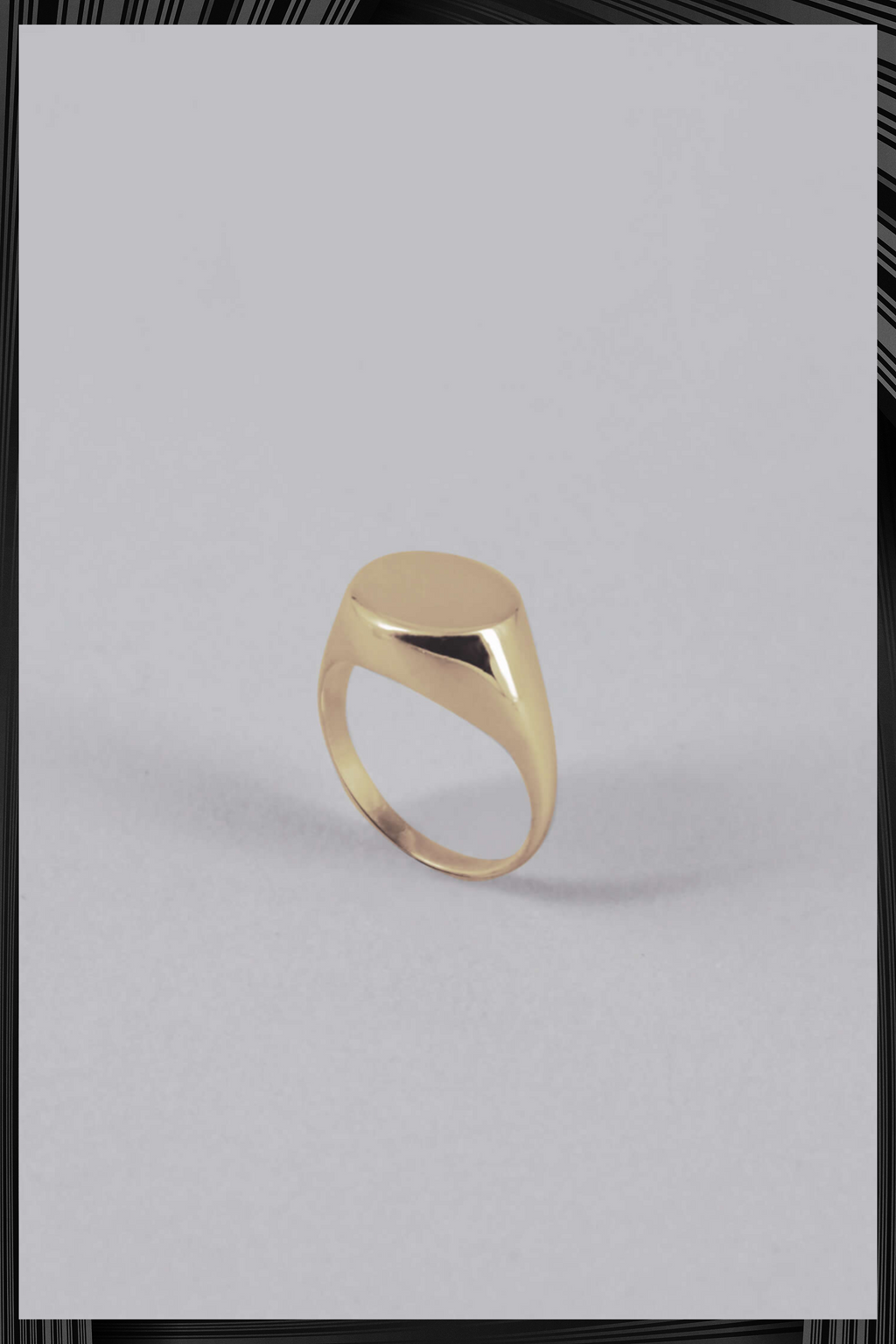 9K Gold Signet Ring | Free Delivery - 4-5 Week Shipping