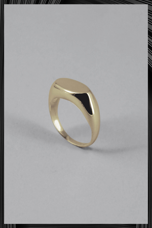 Gold Plated Oval Signet Ring | Free Delivery - 4-5 Week Shipping