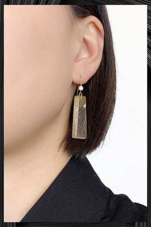 Cubic Zirconia Long Resin Dangle Earrings | Free Delivery - Quick Shipping
