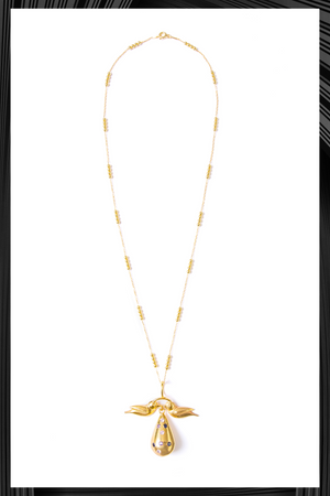 Tear Drop Gold Birds Necklace | Free Delivery - Quick Shipping