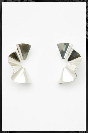 Silver Tra Tra Midi Earrings