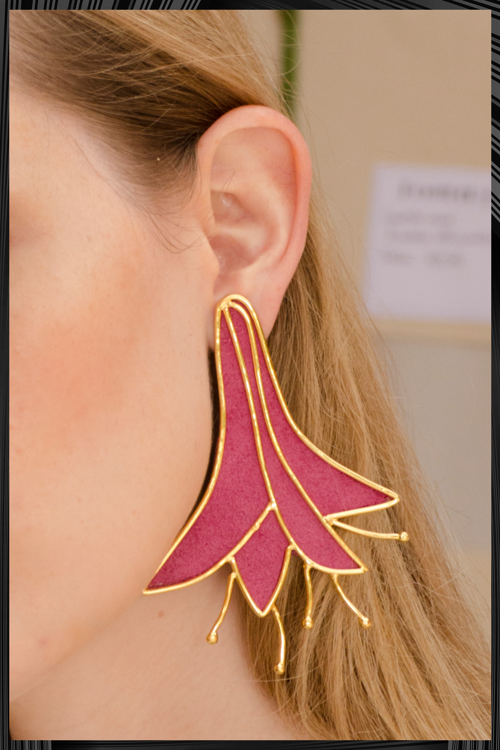 Magenta Lilly Earrings