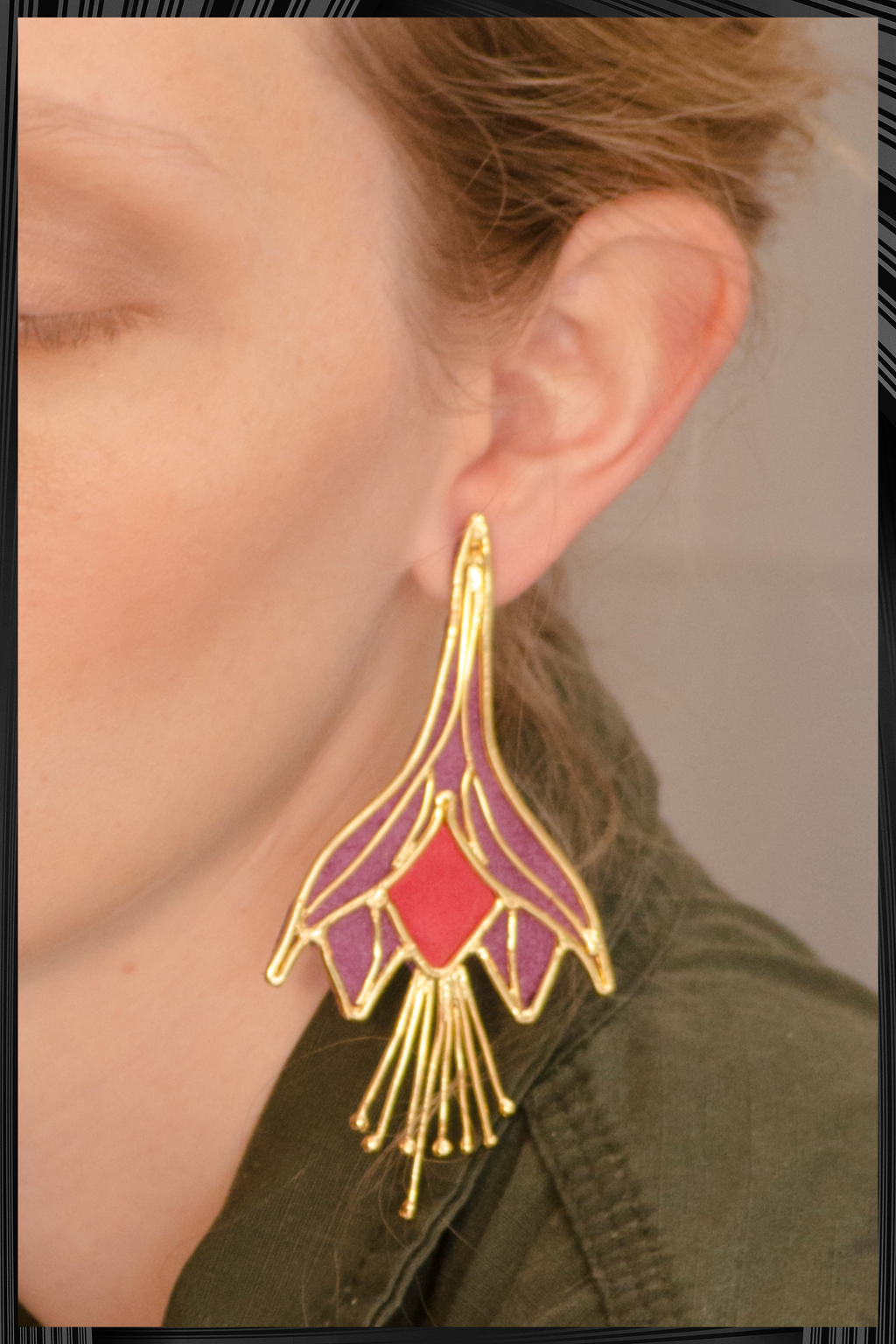 Bloom Fuchsia Earrings | Free Delivery - 3 Week Shipping