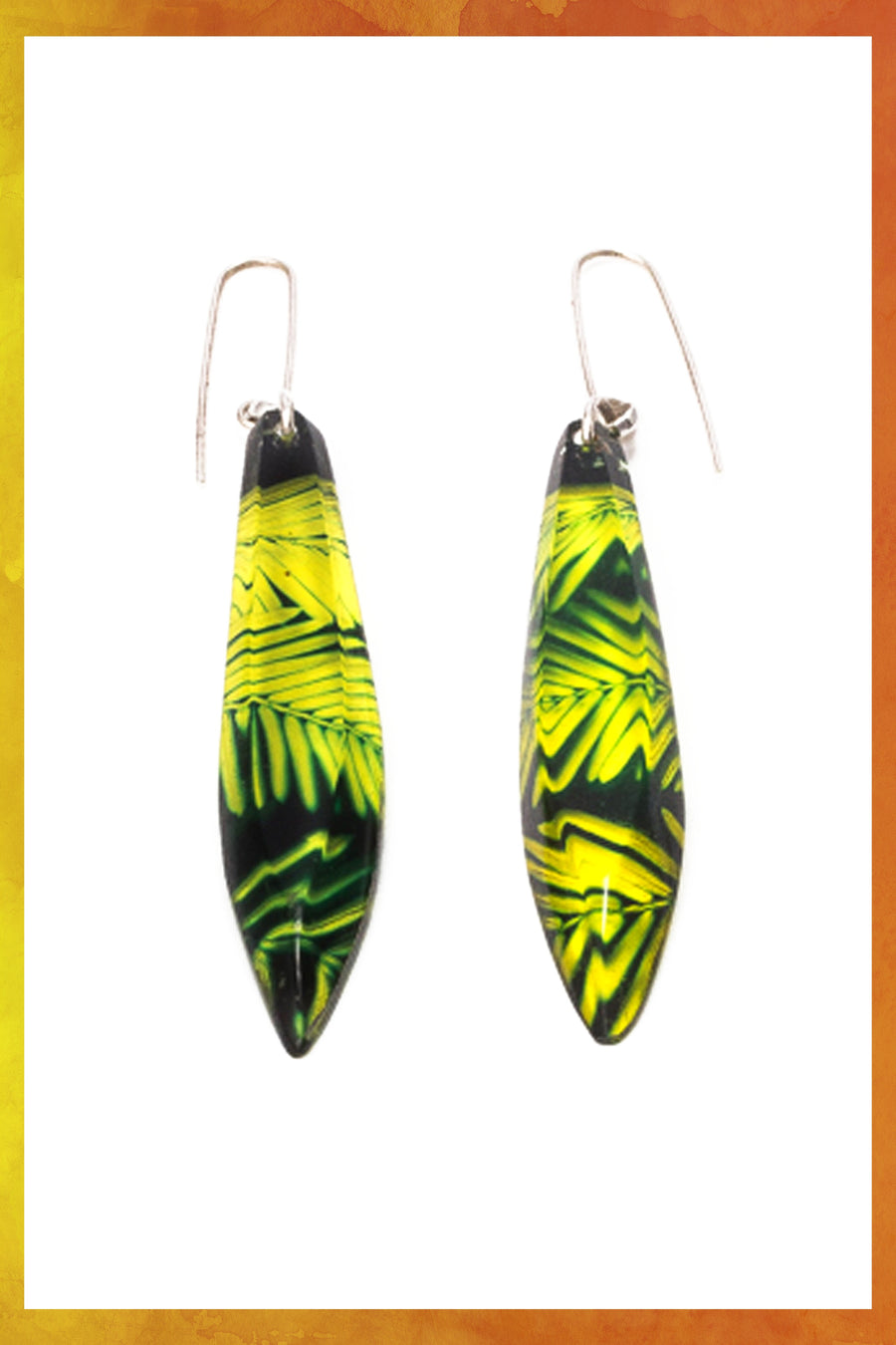 Conifer Long Drop Earrings
