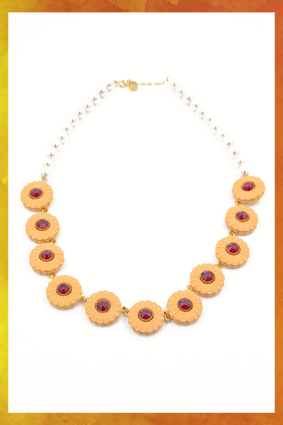 Jelly Cookie Pearl Necklace