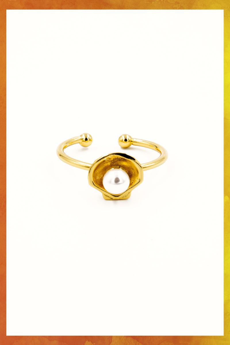 Pearl In Shell Ring