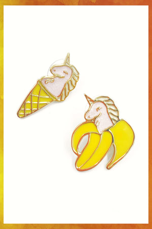 Unicorn Banana Cone Clip