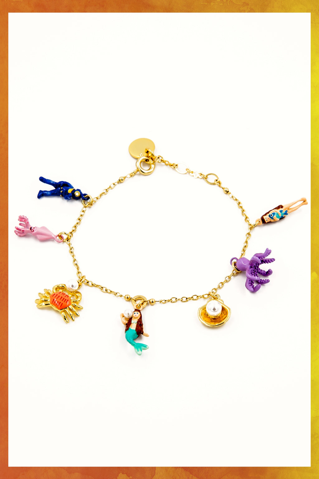 Mermaid Shell Charm Bracelet | Quick Shipping