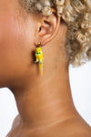 Yellow Parakeet Earrings