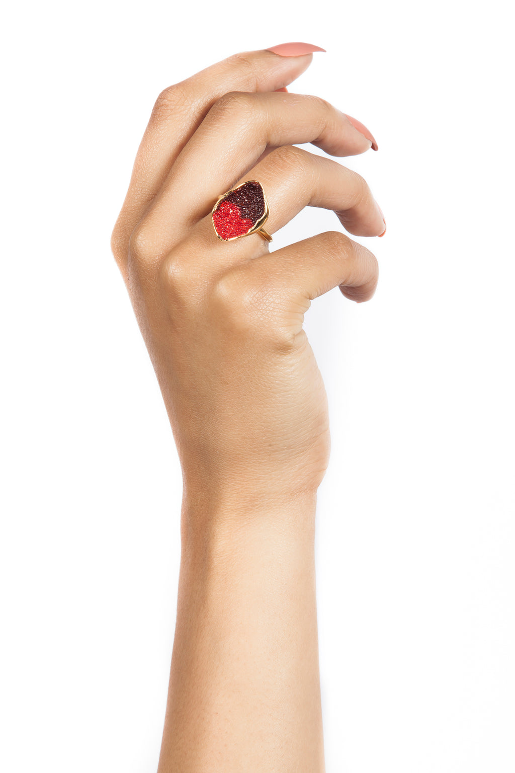 Red Coral Ring Coral Jewelry