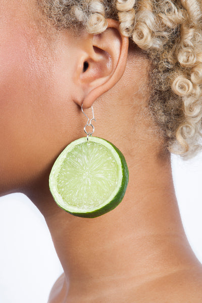 Lime Slice Earrings Citrus Jewelry Fruit