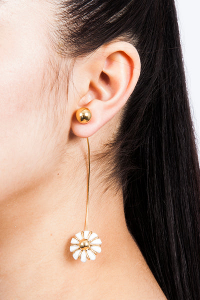 beatriz Palacios Enamel Daisy Earring Single Earring