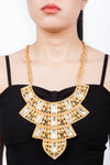 Valliyan India Jewelry Gold Statement Necklace Large Necklace