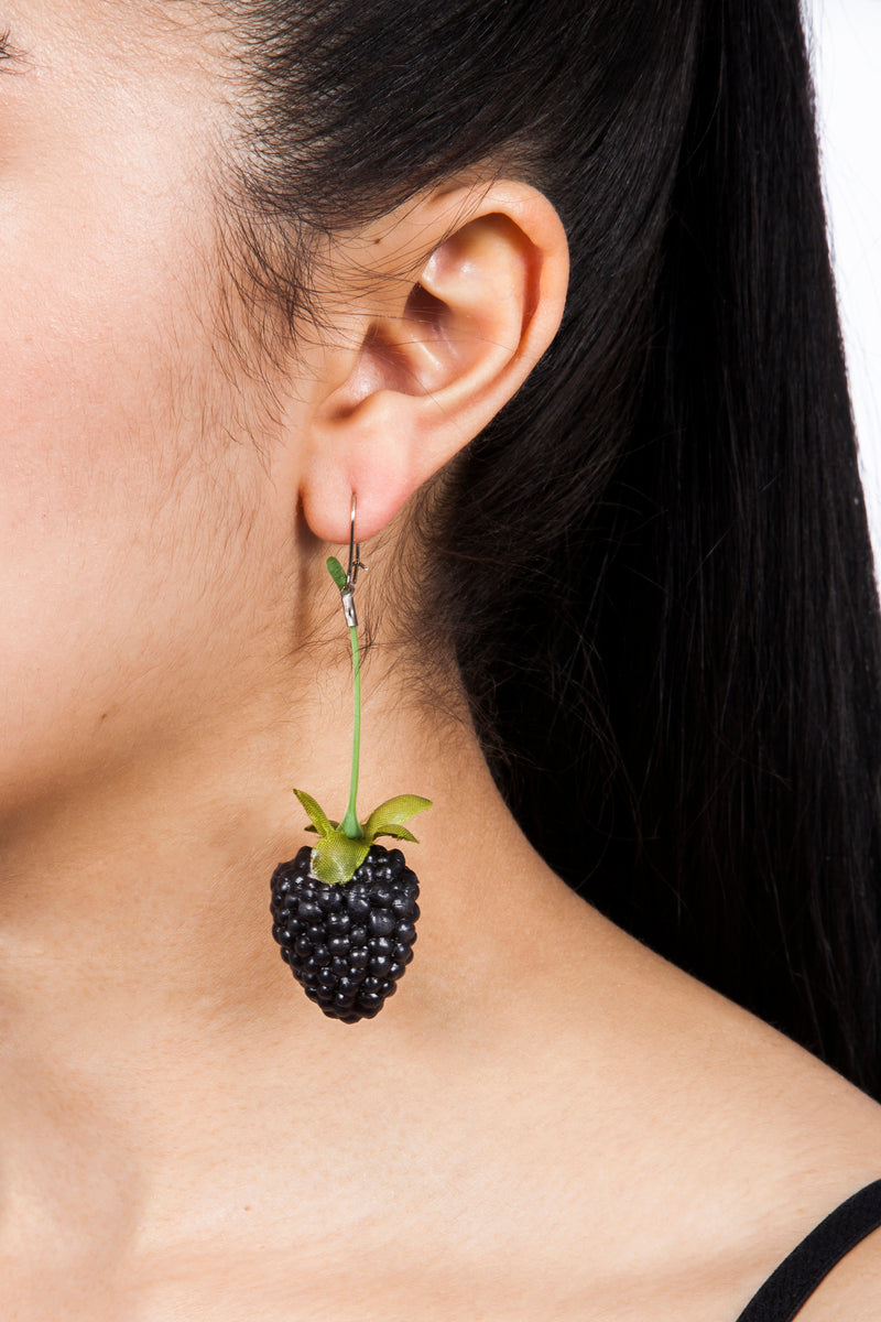 Iris Trends Blackberry Earrings by Ineke Otte Netherlands