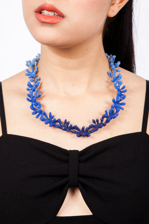 Blue Heart Reef Necklace | Blue Coral Necklace by Aisegul Telli Turkey