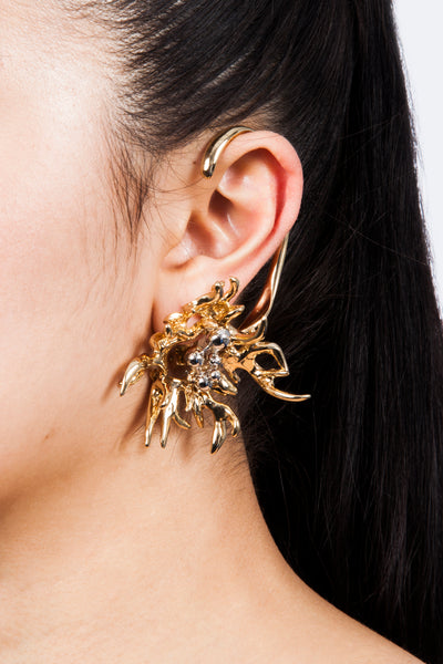 Iris Trends Chemical Fire Designer Statement Earrings by SCHIELD Italy