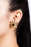 Colombian Jewelry Gold Sun Earrings