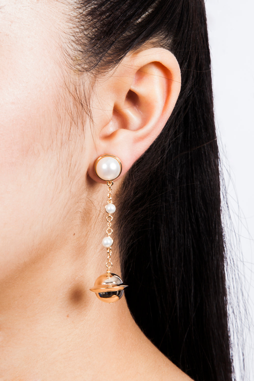 Iris Trends Astro 18 Pearl Statement Earrings by Eshvi London