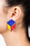 Venus Cube Clip Earrings