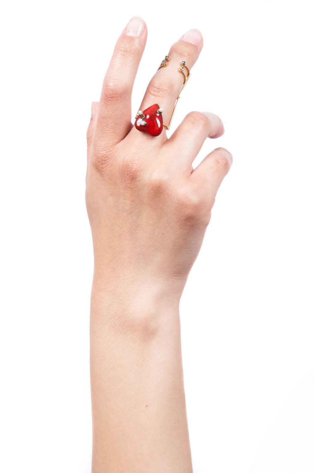 Iris Trends Heart Articulated Ring by Beatriz Palacios Spain