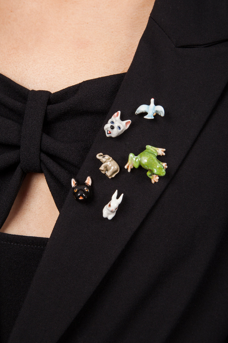 Black French Bulldog Pin