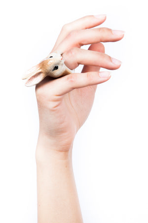 Iris Trends Brown Rabbit Ring by Nach Bijoux France