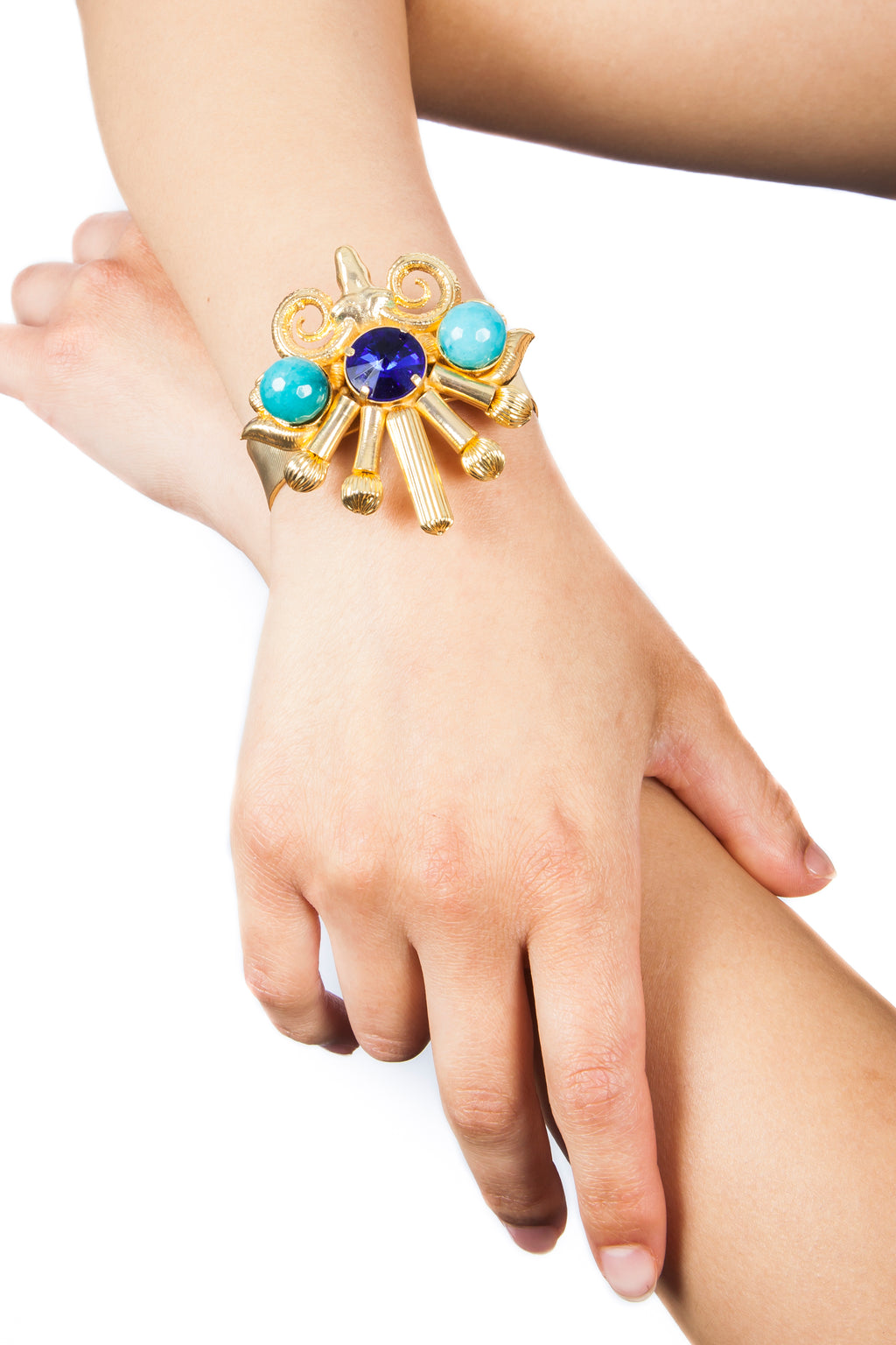 Valliyan India Jewelry Ram Head Bracelet