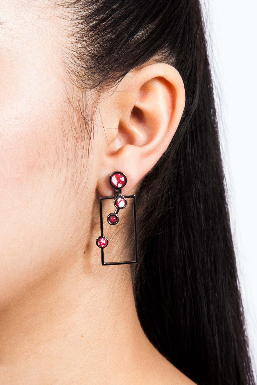 Red Lava Earrings | Free Delivery - Quick Shipping