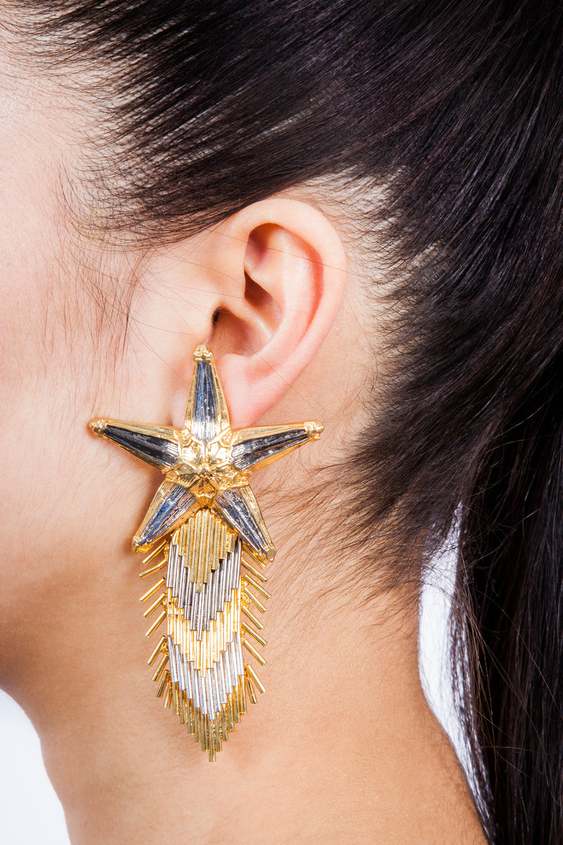 Valliyan India Jewelry Star Earrings