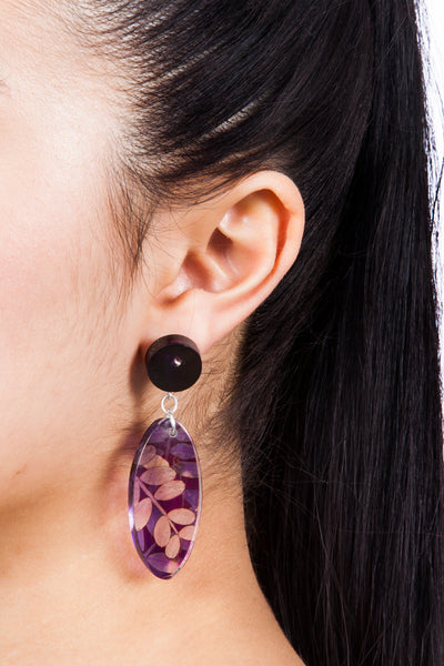 Ultra Violet Oval Stud Earrings