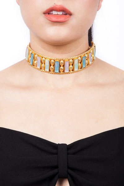 Valliyan India Jewelry Choker Necklace