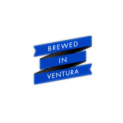 Brewed In Ventura Sticker - Blue