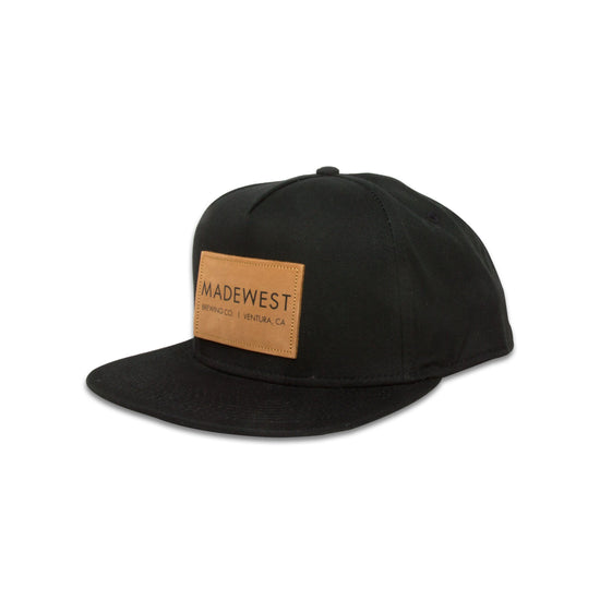 Leather Patch Hat - Black - Hat - MadeWest Brewery